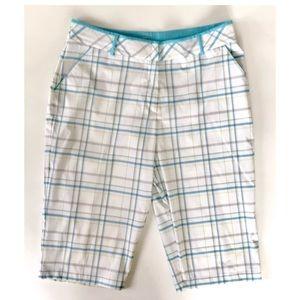 Womens Tail Golf Shorts Plus Size 14 White Plaid